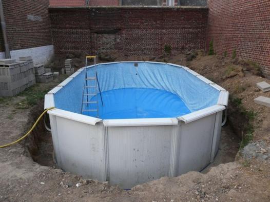piscine hors sol ronde L'Isle-sur-la-Sorgue